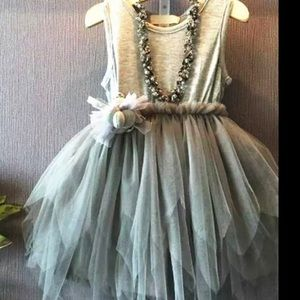 NWT Beautiful girl dress with the ballerina skirt